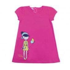 Платье для девочки малиновое со стразами