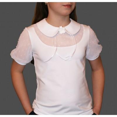 Блузка с отложным воротником и застежкой сзади