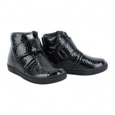 Ботинки черные с липучкой (байка) (25-30)