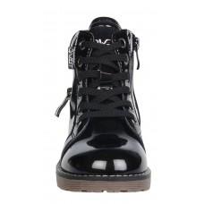 Ботинки черные лаковые байка (28-33)