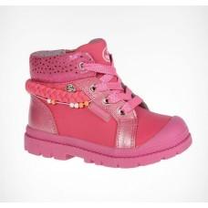 Ботинки розовые косичка-бусины (22-27)