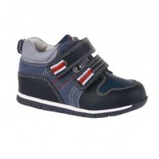 Ботинки для мальчика темно-синие две липучки (19-24)