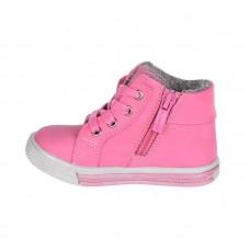 Ботинки розовые цветочки-байка (21-26)