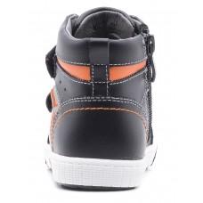 Ботинки черные с оранжевой вставкой (25-30)