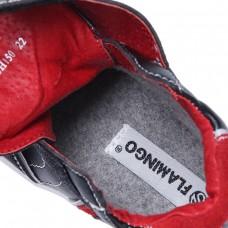 Ботинки для мальчика черные с красным (22-27)
