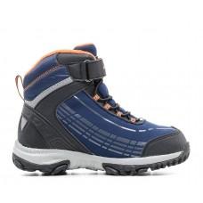 Ботинки мембранные синие с оранжевым (31-37)