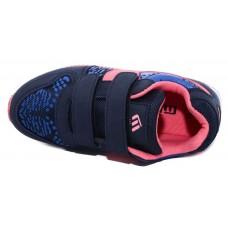 Кроссовки синие с розовым (31-36)