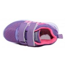 Кроссовки розовые-фиолетовые две липучки (25-30)