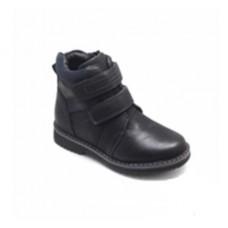 Ботинки черные две липучки (32-37)