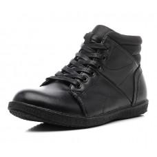 Ботинки черные на шнуровке байка (38-41)