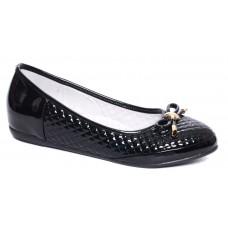 Туфли черные лаковые с бантиком (33-38)