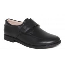 Туфли школьные черные с застежкой (33-38)