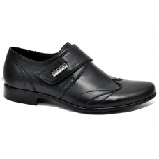 Туфли классические черные с застежкой (31-38)