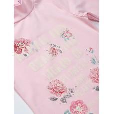 Водолазка розовая с цветами