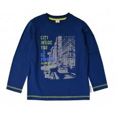 Джемпер для мальчика желто синий трикотаж CITY