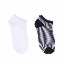 Носки детские (2шт) белые и черные в белую полоску