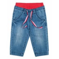 Брюки джинсовые детские с красным верхом