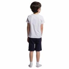 Комплект для мальчика со смурфом белый с синим