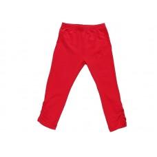 Бриджи для девочки красные с утяжкой