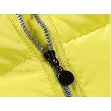 Куртка лимонная диагональная молния
