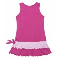 Платье трикотажное малиновое со смурфами