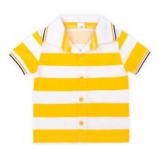 Джемпер-поло для мальчика солнечный полоска