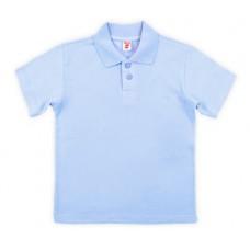 Джемпер-поло для мальчика голубой