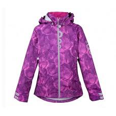 Ветровка детская фиолетовая с цветами