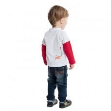 Джемпер с длинными рукавами красно-белый
