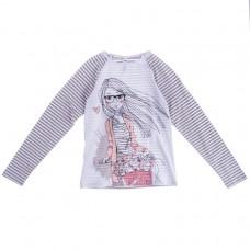 Джемпер для девочки полосатые рукава