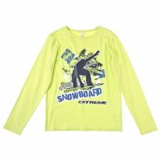 Джемпер для мальчика желтый трикотаж SNOWBOARD