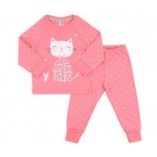 Пижама для девочки розовый кот