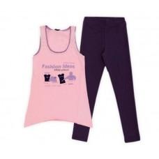 Комплект для девочки темно синий / розовый FASHION IDEAS