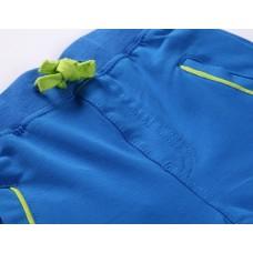 Брюки спортивные голубые  с зеленым