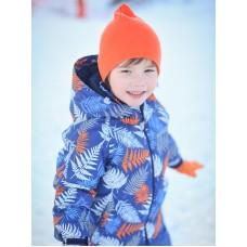 Куртка для мальчика синяя папоротник