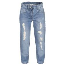 Брюки джинсовые для девочки потертые