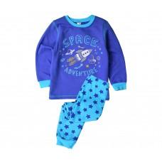 Пижама для мальчика космос синий шторм + бирюзовые звезды