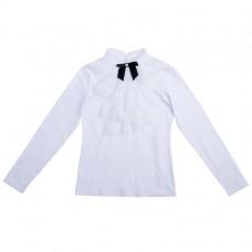 Блузка трикотажная черный бантик
