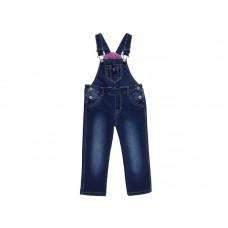 Полукомбинезон джинсовый для девочек на флисе
