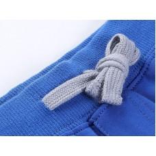 Брюки спортивные голубые  с серым