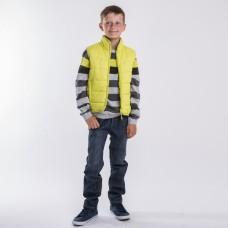 Жилет для мальчика лимонный