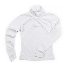 Блузка для девочки белая с рукавами