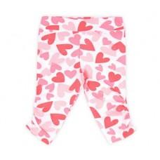 Бриджи для девочки розовые сердца