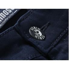 Брюки синие текстильные для мальчика