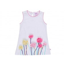 Платье для девочки белое с цветами