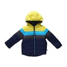 Куртка текстильная серая с желтым