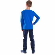 Джемпер для мальчика трикотаж синий MOUNTAIN