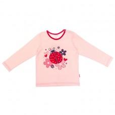 Джемпер для девочки розовый божья коровка