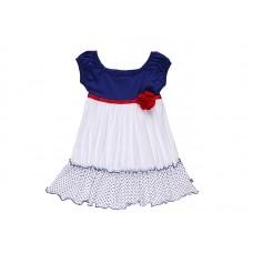 Платье для девочки с лентой и цветками
