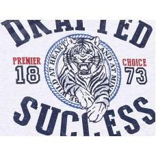 Джемпер с контрастными рукавами тигр